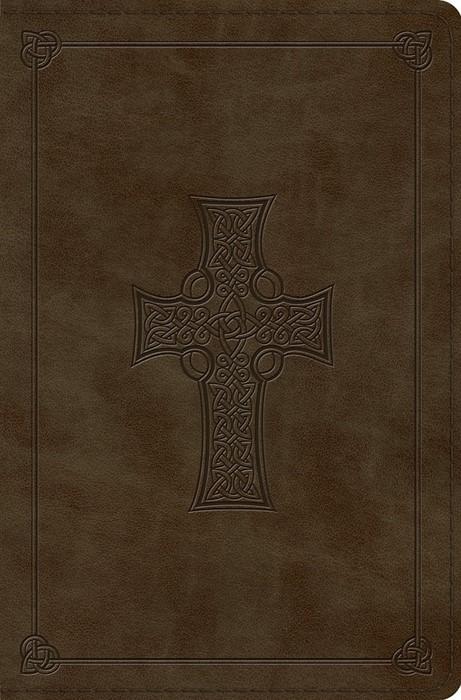 ESV Compact Bible (TruTone, Olive, Celtic Cross Design) (Imitation Leather)