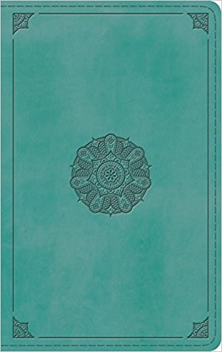 ESV Thinline Bible TruTone, Turquoise, Emblem Design (Imitation Leather)
