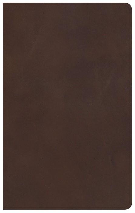 KJV Ultrathin Reference Bible, Brown Genuine Leather (Genuine Leather)