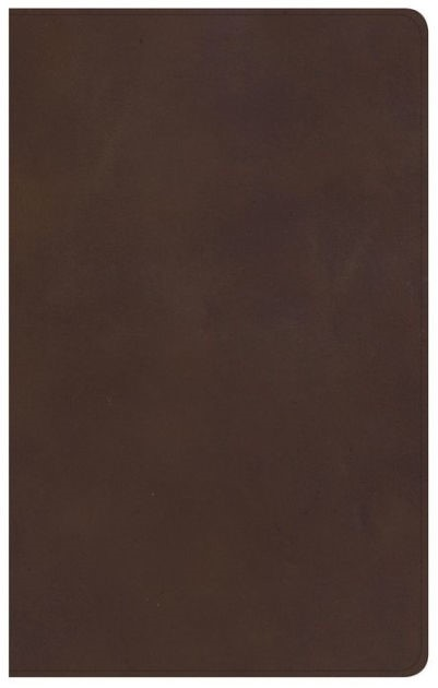 KJV Ultrathin Reference Bible, Brown Genuine Leather, Index (Leather Binding)