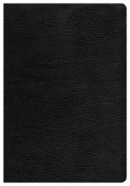 CSB Super Giant Print Reference Bible, Black Genuine Leather (Genuine Leather)