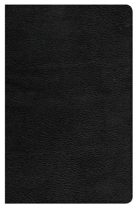 CSB Ultrathin Reference Bible, Black Genuine Leather (Genuine Leather)