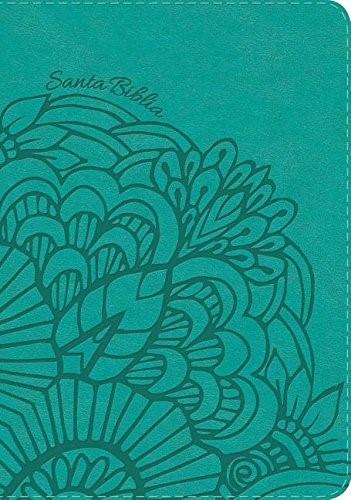 RVR 1960 Biblia Compacta Letra Grande aqua, símil piel (Imitation Leather)
