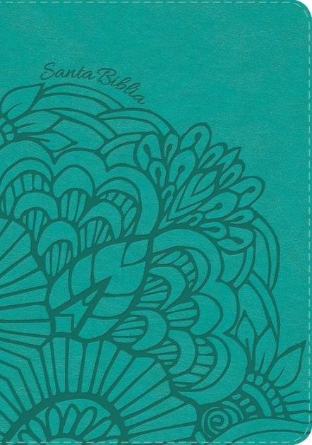 RVR 1960 Biblia Compacta Letra Grande Aqua, símil piel con í (Imitation Leather)