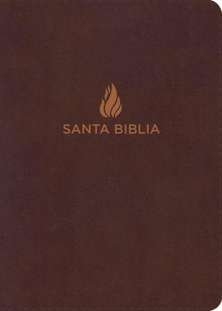 RVR 1960 Biblia Letra Gigante símil piel marrón, piel fabric (Bonded Leather)