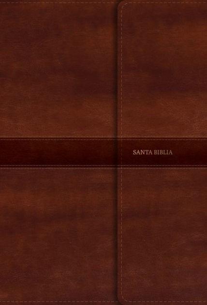 RVR 1960 Biblia Letra Gigante marrón, símil piel con cierre (Imitation Leather)