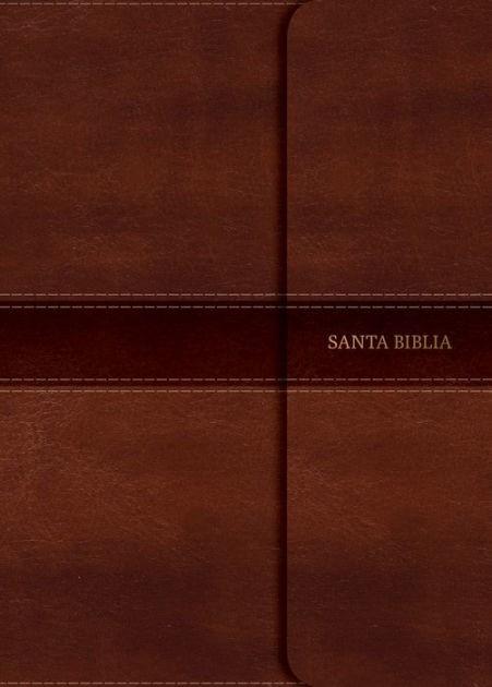RVR 1960 Biblia Compacta Letra Grande marrón, símil piel con (Imitation Leather)