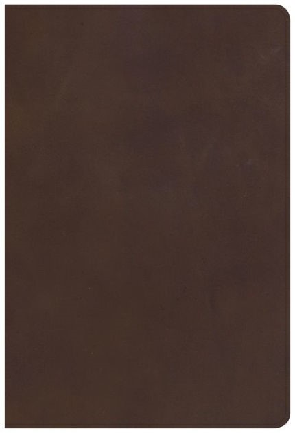 KJV Giant Print Reference Bible, Brown Genuine Leather, Inde (Leather Binding)