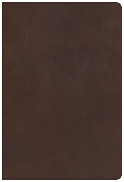 CSB Single-Column Personal Size Bible, Brown Genuine Leather (Genuine Leather)
