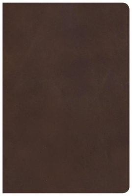 KJV Large Print Personal Size Reference Bible, Brown (Genuine Leather)
