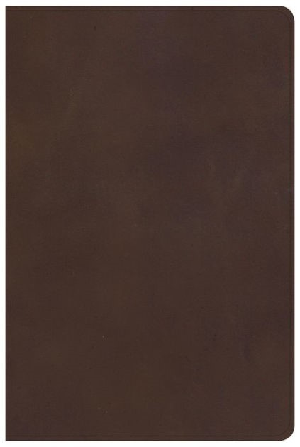 KJV Large Print Personal Size Reference Bible, Brown Genuine (Leather Binding)