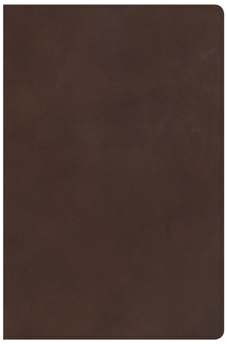 KJV Super Giant Print Reference Bible, Brown Genuine Leather (Leather Binding)