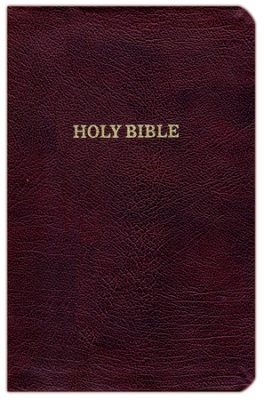 KJV Thinline Reference Bible, Burgundy, Red Letter Ed. (Bonded Leather)