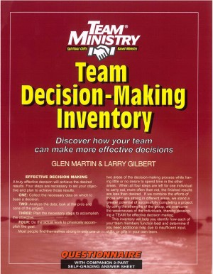 Team Decision-Making Inventory (Pack of 10) (Paper Back)