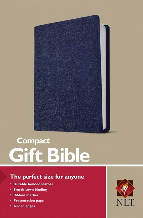 NLT Compact Gift Bible, Navy (Bonded Leather)