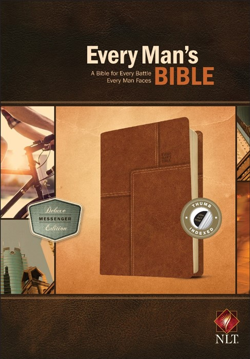 NLT Every Man's Bible, Deluxe Messenger Edition (Imitation Leather)