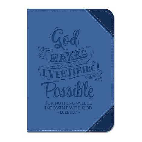 Lux Leather Two Tone Journal God Makes Everything Possible