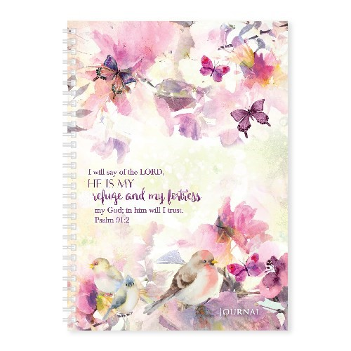 Soft Cover Journal Psalm 91:2 (Notebook / Blank Book)