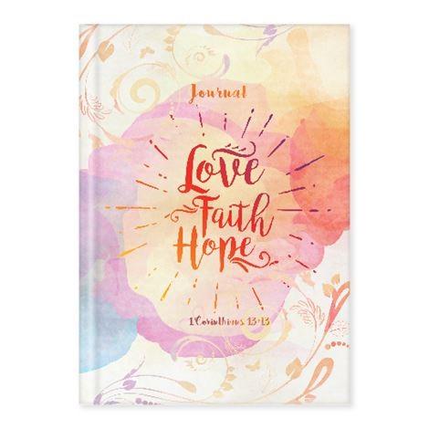 Hard Cover Journal Love, Faith, Hope