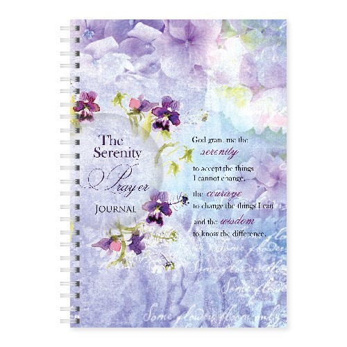 Wire-O-Hard Cover Journal The Serenity Prayer