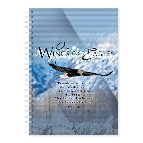 Wire-O-Hard Cover Journal Eagle Isiah 40:31 (Spiral Bound)