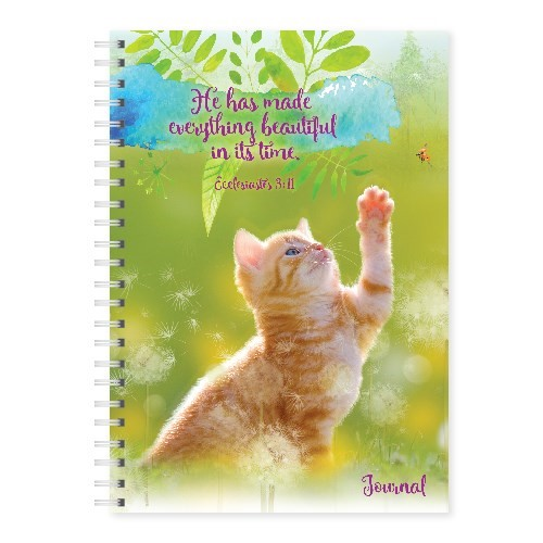 Wire-O-Hard Cover Journal Cat Ecclesiastes 3:11 (Spiral Bound)