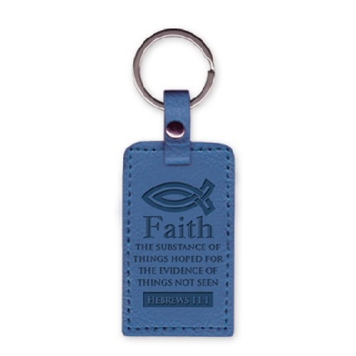 Leather Keychain Fish-Faith