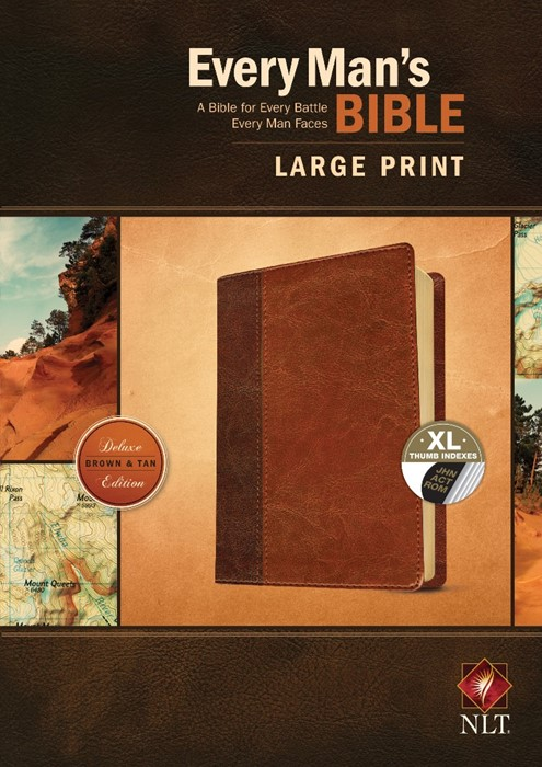NLT Every Man's Bible, Large Print, Brown/Tan, Indexed (Imitation Leather)