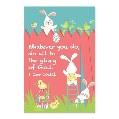 Memo Pad Bunny Friends 1 Corinthians (Notebook / Blank Book)