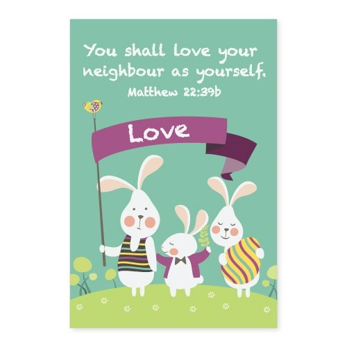 Memo Pad Bunny Friends Matthew 22