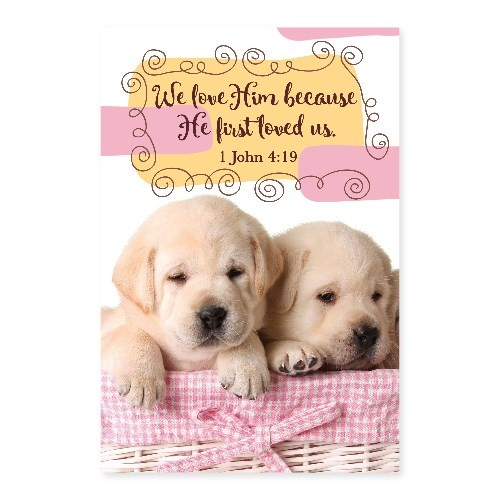 Memo Pad Puppy 1 John 4 (Notebook / Blank Book)