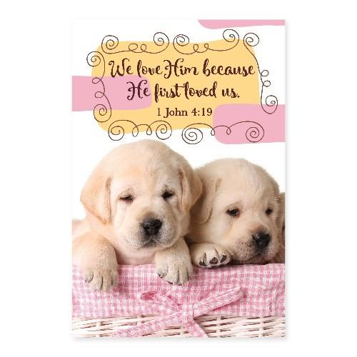 Memo Pad Puppy 1 John 4