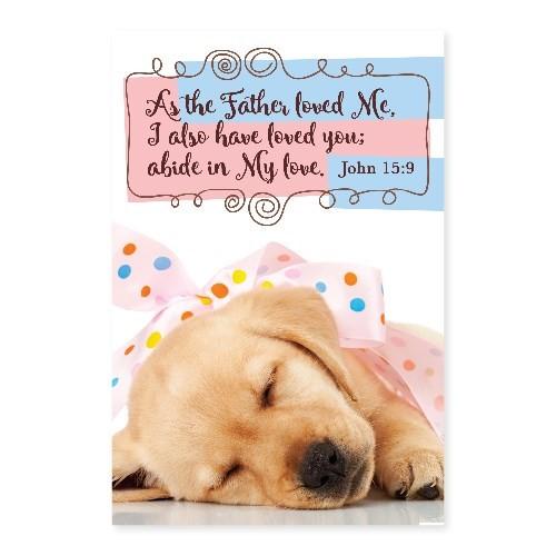 Memo Pad Puppy John 15 (Notebook / Blank Book)