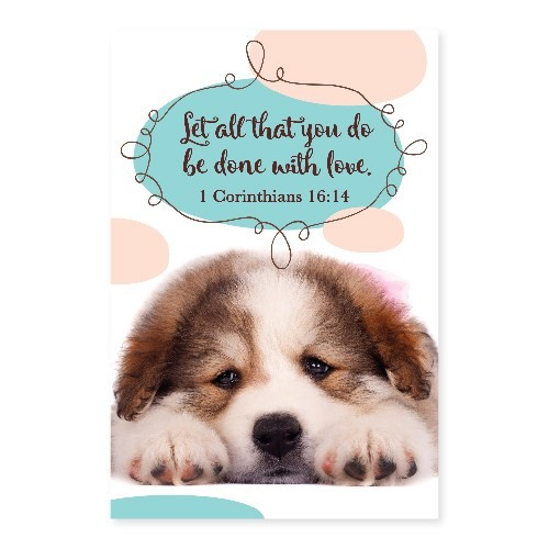 Memo Pad Puppy 1 Corinthians (Notebook / Blank Book)