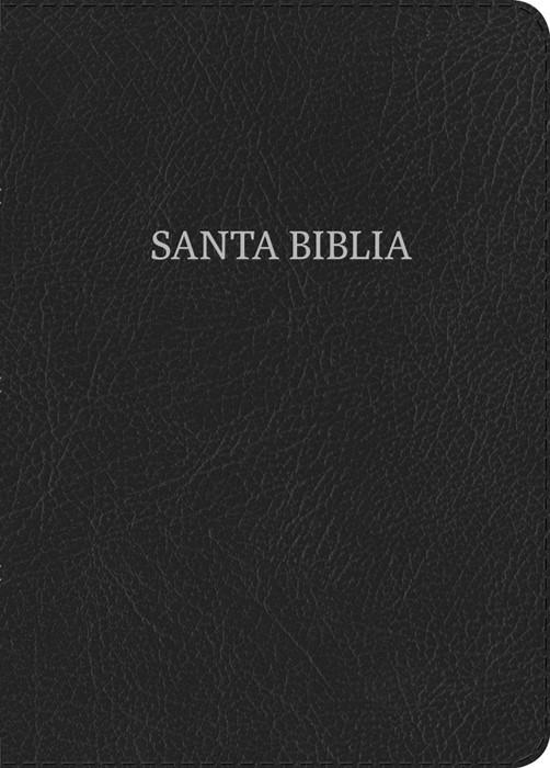 NVI Biblia Letra Gigante, negro piel fabricada con índice (Bonded Leather)
