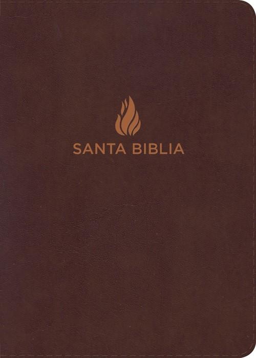 NVI Biblia Compacta Letra Grande, marrón piel fabricada con (Bonded Leather)