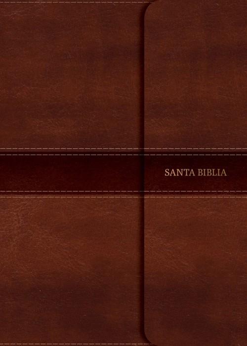 NVI Biblia Letra Gigante, marrón símil piel con cierre (Imitation Leather)