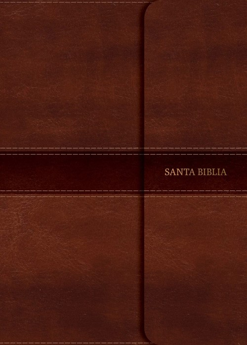 NVI Biblia Compacta Letra Grande, marrón símil piel con cier (Imitation Leather)
