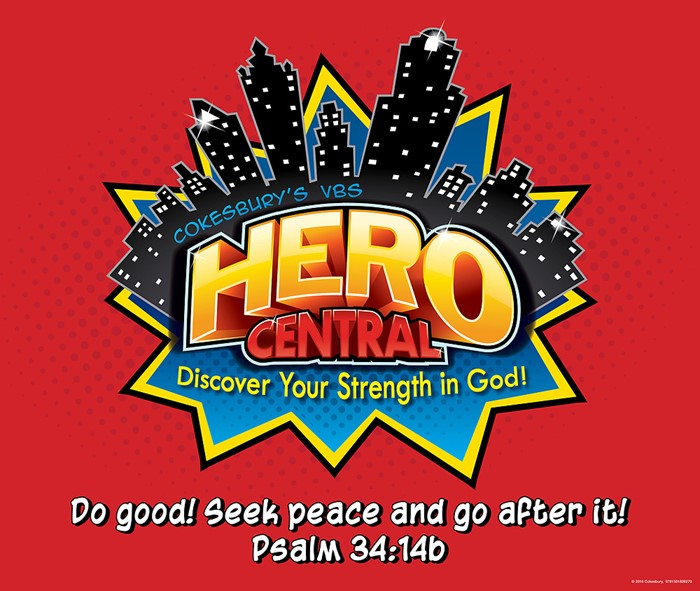 VBS Hero Central Large Logo Poster