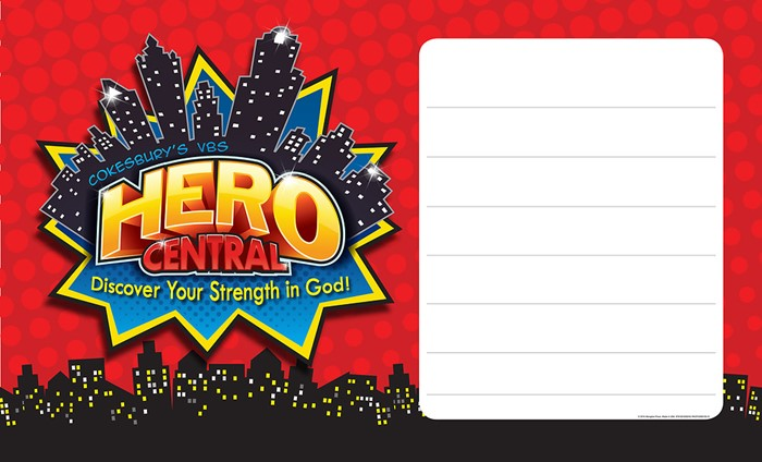 Vacation Bible School 2017 VBS Hero Central Outdoor Banner