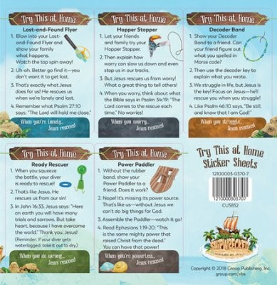 VBS Try This At Home Sticker Sheets (Pack of 10)