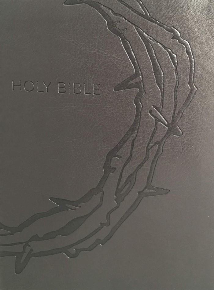 KJVER Sword Study Bible Giant Print Designer Charcoal