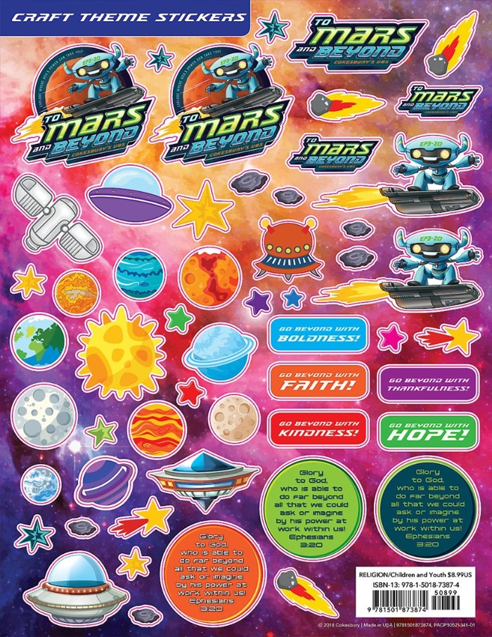 VBS 2019  Craft Theme Stickers (Pkg of 12)