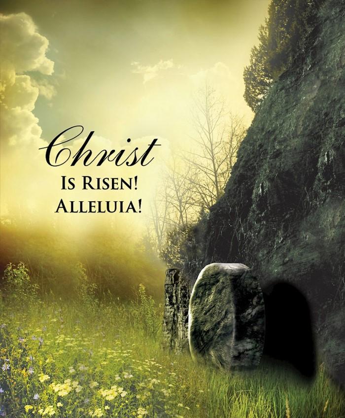 Christ Sunrise Easter Bulletin, Large (Pkg of 50)