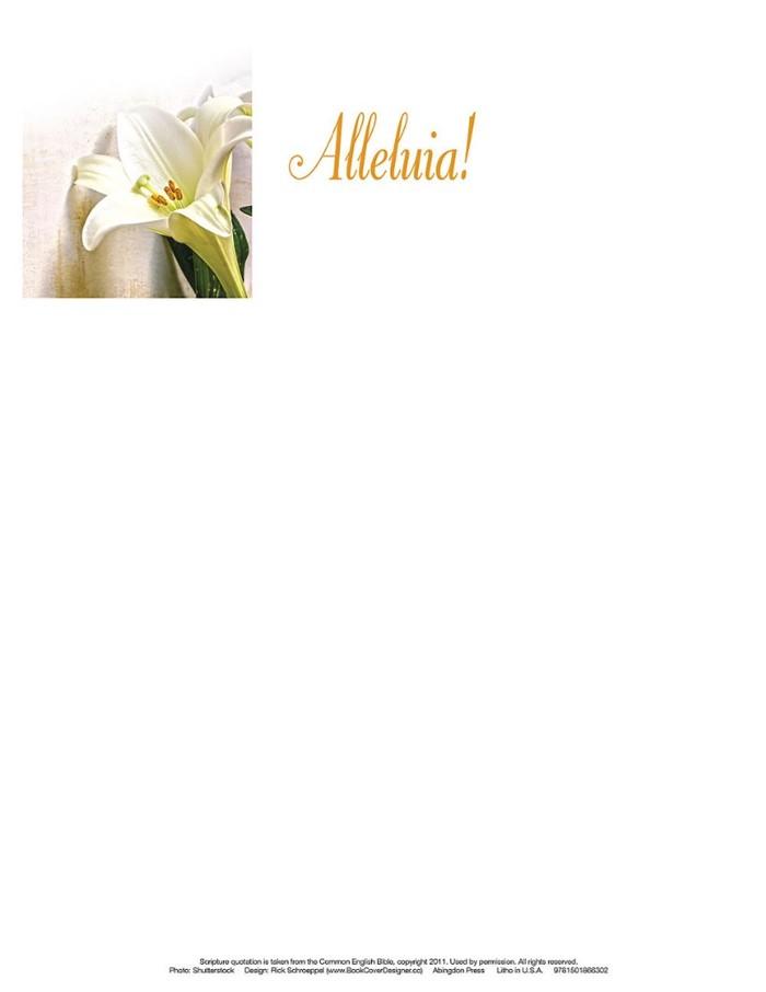 Alleluia! Easter Lilies Letterhead (Pkg of 50)