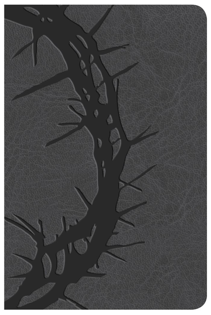 KJV Large Print Compact Reference Bible, Charcoal LeatherTou
