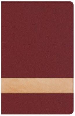 CSB Large Print Personal Size Reference Bible, Crimson/Tan