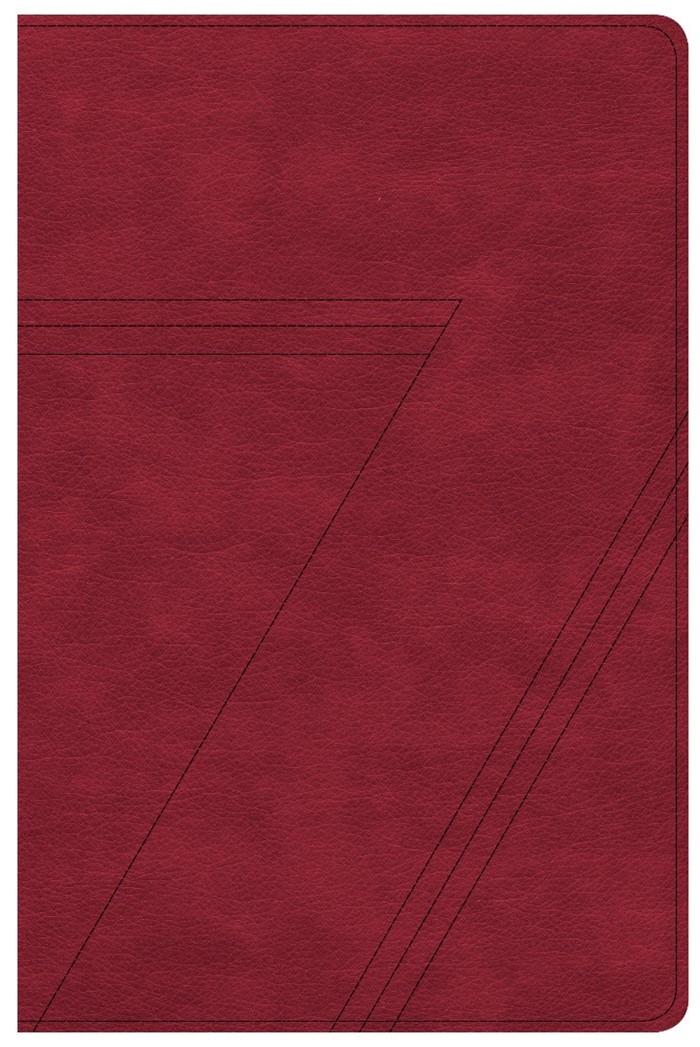 CSB Seven Arrows Bible, Crimson LeatherTouch