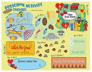 FaithWeaver Friends Preschool Activity Stickers, Fall 2018