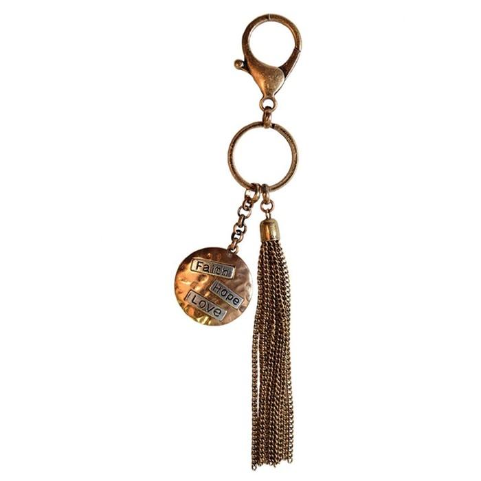Faith Gear Faith Hope Love Keychain